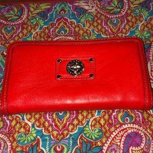 Luxury Marc Jacobs Orange Leather Wallet